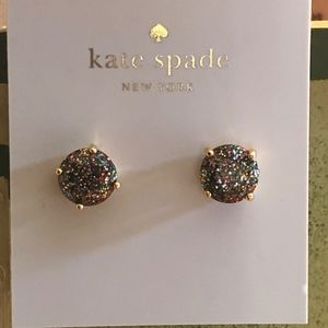 NWT Kate Spade Multi Glitter Stud Earrings